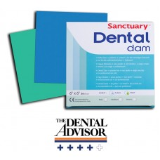 "Платна кофердам с аромат на МЕНТА 6""x6""/ Sanctuary Dental Dam MINT 6""x6"", с шаблон"