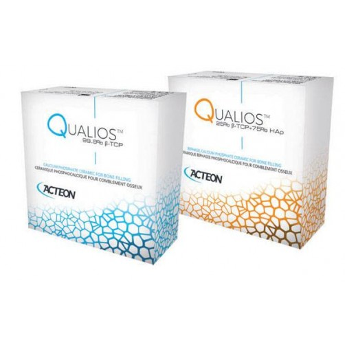 Qualios- 100 % синтетичен костозаместител 0,5-1,0мм,    5 бр опаковки по 1 гр