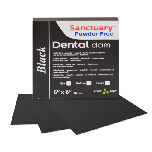 Платна кофердам цвят черен / Sanctuary Dental Dam Black