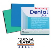 "Платна кофердам с аромат на МЕНТА 6""x6"" HEAVy/ Sanctuary Dental Dam MINT 6""x6"""