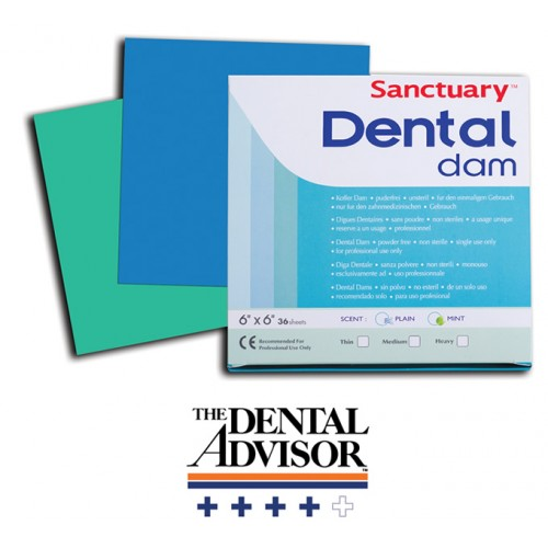 "Платна кофердам с аромат на МЕНТА 6""x6""/ Sanctuary Dental Dam MINT 6""x6"""
